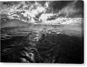 Green River Rays II Canvas Print by Jon Glaser