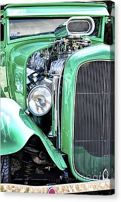 Green Rod Canvas Print by Tim Gainey