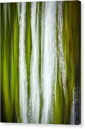 Abstract Water Fall Canvas Print - Green Rush by Thorsten Scheuermann