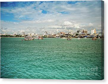 Thailand Canvas Print - Green Sea At Thailnd by Amitabh Dayal