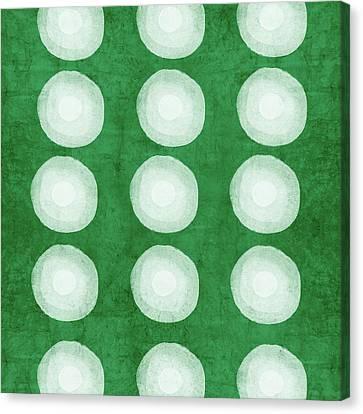 Dye Canvas Print - Green Shibori 4- Art By Linda Woods by Linda Woods