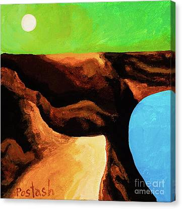 Green Skies Canvas Print by Igor Postash