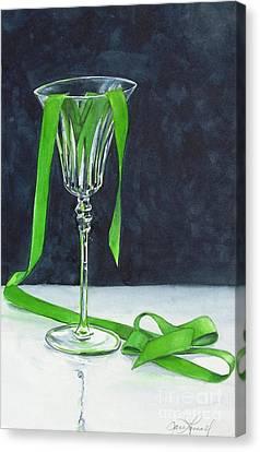 Green Spill Canvas Print