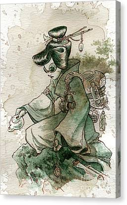 Green Tea Canvas Print by Brian Kesinger