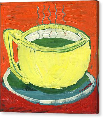 Green Tea Canvas Print by Jennifer Lommers
