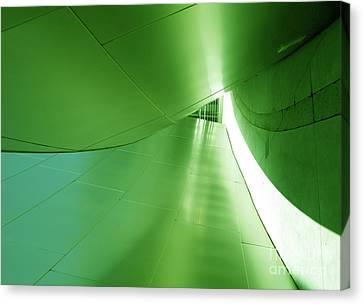 Canvas Print featuring the photograph Green Tunnel. Los Angeles Series. by Ausra Huntington nee Paulauskaite