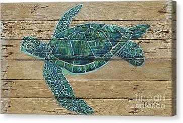 Green Turtle Canvas Print