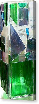 Canvas Print featuring the glass art Green Vase by Jamie Frier