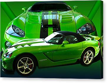 Green Viper Canvas Print by Jim  Hatch