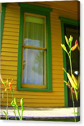 Green Window Canvas Print by Ed Smith