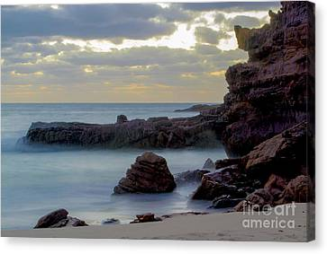 Canvas Print featuring the photograph Greenglades Beach Morning by Angela DeFrias