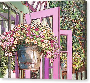 Greenhouse Doors Canvas Print by Nadi Spencer