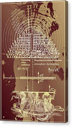 Canvas Print featuring the digital art Greenhouse Effect Mythology by Robert G Kernodle