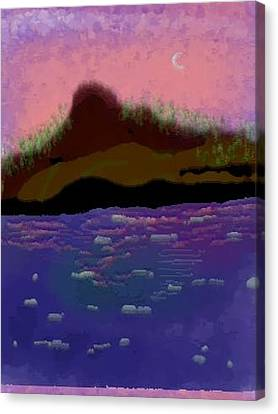 Canvas Print featuring the digital art Greenland.summer by Dr Loifer Vladimir