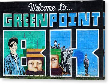 Greenpoint Brooklyn Wall Graffiti Canvas Print