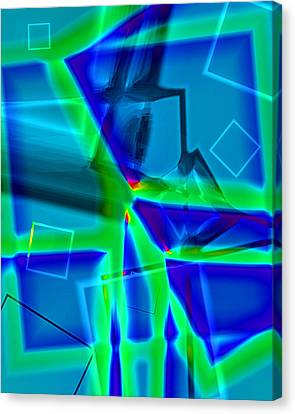 Canvas Print featuring the digital art Greenstick by Lola Connelly