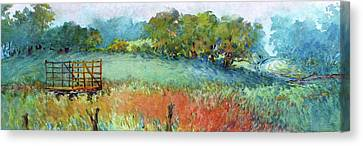 Greenville Hayfield In The Rain Canvas Print
