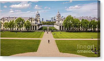 Greenwich Park And The Old Royal Naval College England Canvas Print by Lexa Harpell