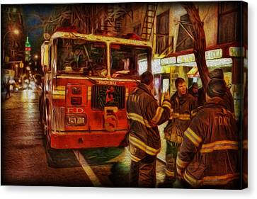 Greenwich Village's Finest Canvas Print by Lee Dos Santos