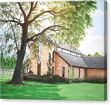 Canvas Print featuring the painting Greenwood by Mike Ivey