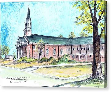 Greer United Methodist Church Canvas Print by Patrick Grills