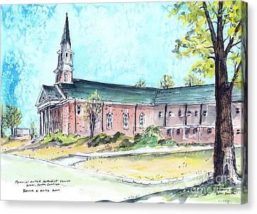 Greer United Methodist Church Canvas Print by Patrick Grills