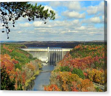 Greers Ferry Dam Canvas Print by Delana Epperson