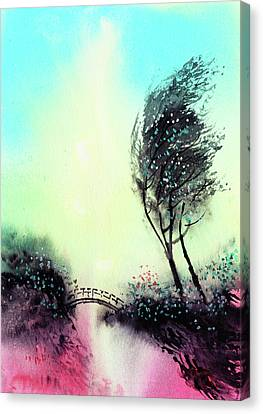 Canvas Print featuring the painting Greeting 1 by Anil Nene