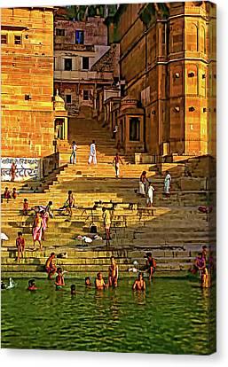 Moksha Canvas Print - Greeting The Sun - Paint by Steve Harrington
