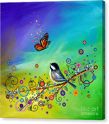 Doodle Art Canvas Print - Greetings by Cindy Thornton