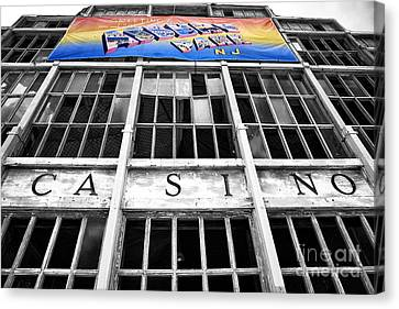 Asbury Park Casino Canvas Print - Greetings From Asbury Park Fusion by John Rizzuto