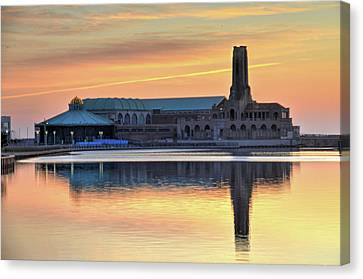 Greetings From Asbury Park Nj Canvas Print by Bob Cuthbert