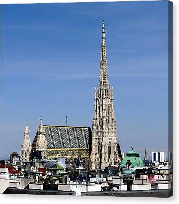 Greetings From Vienna Canvas Print by Evelyn Tambour
