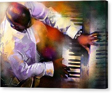 Greg Phillinganes From Toto Canvas Print by Miki De Goodaboom