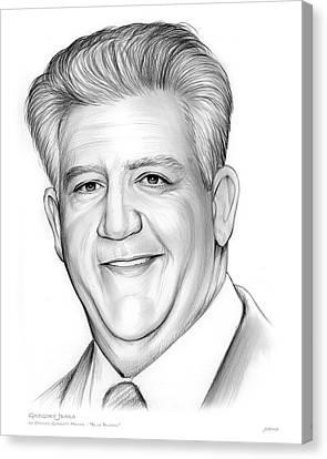 Gregory Jbara Canvas Print by Greg Joens