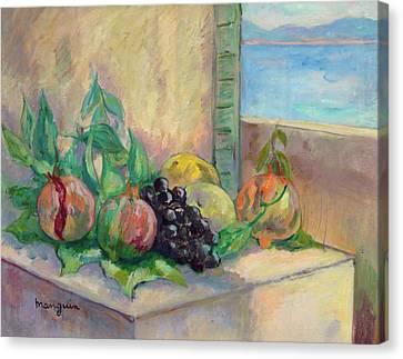 Grenades Et Raisins Canvas Print by Henri Manguin
