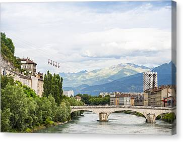 Grenoble Canvas Print by Marco Maccarini
