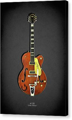 Gibson Guitar Canvas Print - Gretsch 6120 1956 by Mark Rogan