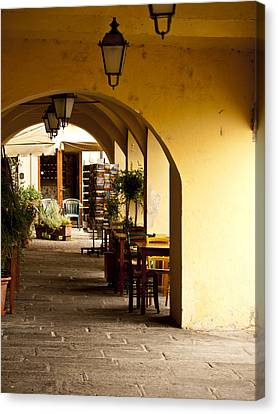 Greve In Chianti Portico Canvas Print