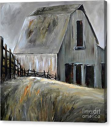 Grey Barn Canvas Print