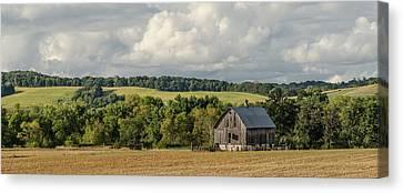 Canvas Print featuring the photograph Grey Barn by Dan Traun