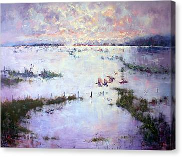 Grey Clouds Gather Canvas Print