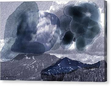 Grey Clouds Canvas Print
