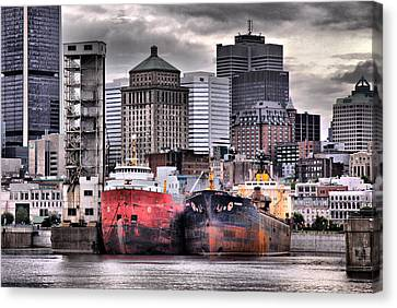 City Scape Canvas Print - Grey Haven by Russell Styles