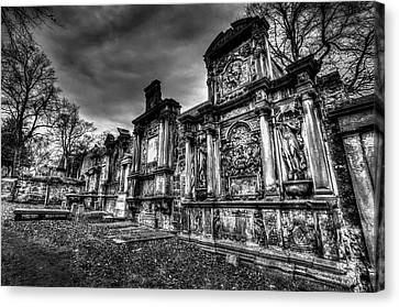 Scottish Dog Canvas Print - Greyfriars Kirk Cemetery Edinburgh by David Pyatt