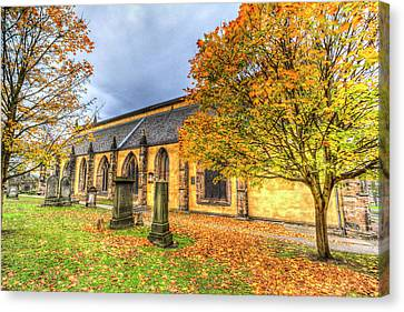 Scottish Dog Canvas Print - Greyfriars Kirk Church Edinburgh by David Pyatt