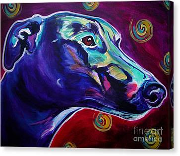 Rescued Greyhound Canvas Print - Greyhound -  by Alicia VanNoy Call