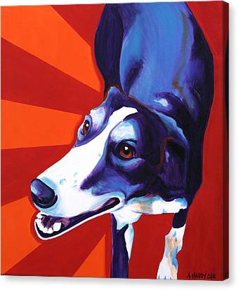 Rescued Greyhound Canvas Print - Lurcher - Evie by Alicia VanNoy Call