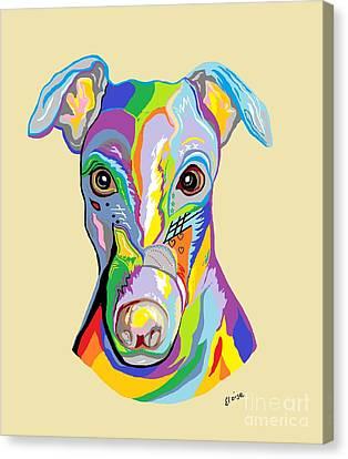 Greyhound Canvas Print by Eloise Schneider