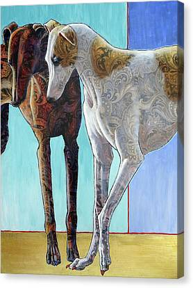 Paisley Paws De Deux Canvas Print by Ande Hall